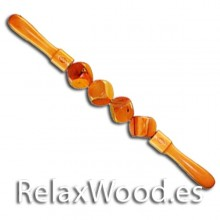 Four bucket roller for wood therapy treatment
