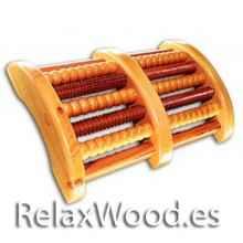 Relaxe duplo pé de madeira pé terapia de relaxamento