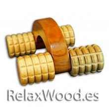 Carro de madeira tratamentos de terapia massageador