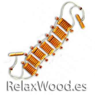 Massaging Belt therapy treatments wood
