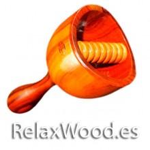 Taça da Suécia terapia rolo com madeira