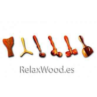 Gesichtspackung für Therapie-Behandlungen Holz