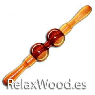 Rotating bi roller ball for wood treatment